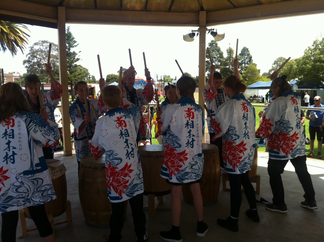 SCPS Taiko Drummers in Gawler